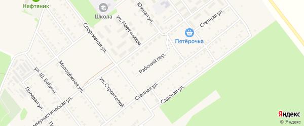 Рабочий переулок на карте села Семилетки с номерами домов