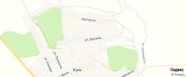 Улица Дружбы на карте села Кима с номерами домов