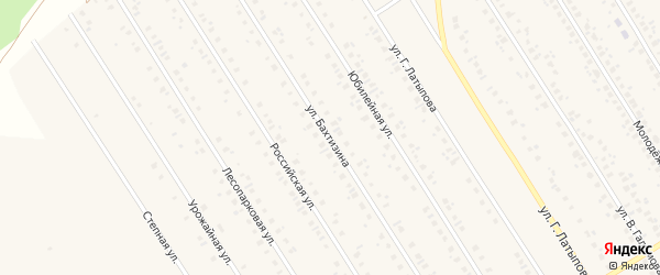 Улица Бахтизина на карте села Чекмагуш с номерами домов