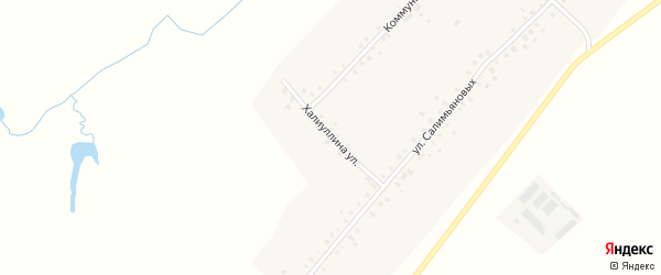 Улица Халиуллина на карте села Нижнеманчарово с номерами домов