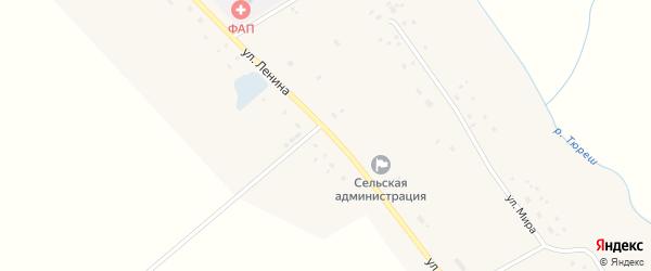 Улица Ленина на карте села Кузеево с номерами домов