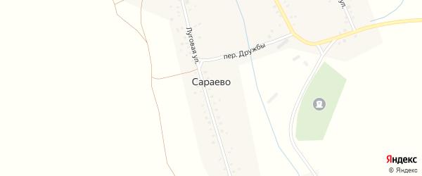 Лесной переулок на карте села Сараево с номерами домов