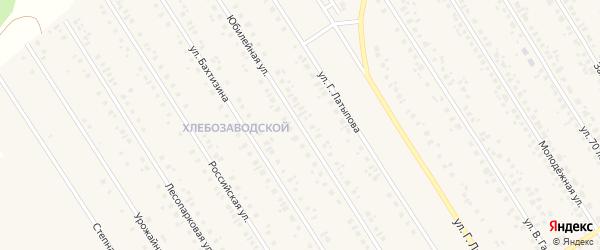 Юбилейная улица на карте села Чекмагуш с номерами домов