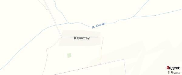 Карта деревни Юрактау в Башкортостане с улицами и номерами домов