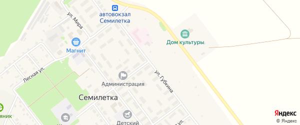 Улица Губкина на карте села Семилетки с номерами домов