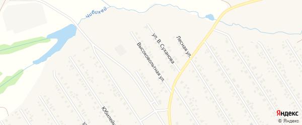 Высоковольтная улица на карте села Чекмагуш с номерами домов