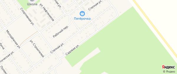 Садовая улица на карте села Семилетки с номерами домов