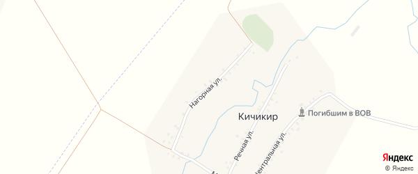 Нагорная улица на карте деревни Кичикира с номерами домов