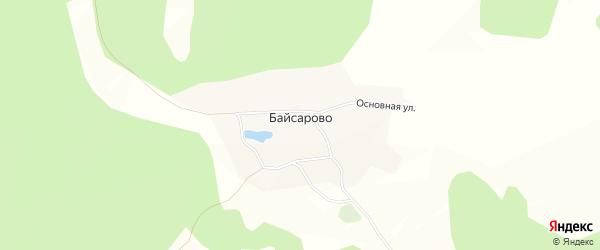 Карта деревни Байсарово в Башкортостане с улицами и номерами домов
