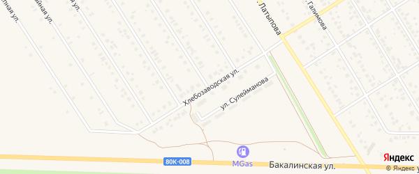 Хлебозаводская улица на карте села Чекмагуш с номерами домов