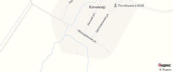 Молодежная улица на карте деревни Кичикира с номерами домов