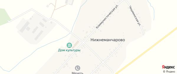 Коммунистическая улица на карте села Нижнеманчарово с номерами домов