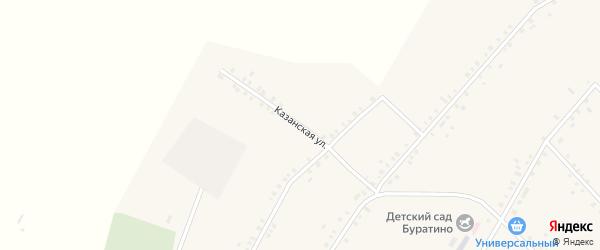 Казанская улица на карте села Исмаилово с номерами домов