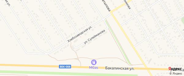 Улица Ш.Сулейманова на карте села Чекмагуш с номерами домов