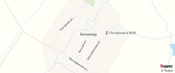 Речная улица на карте деревни Кичикира с номерами домов