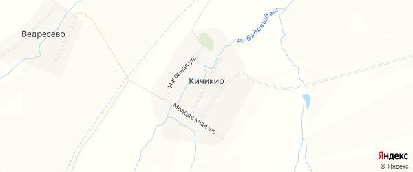 Карта деревни Кичикира в Башкортостане с улицами и номерами домов