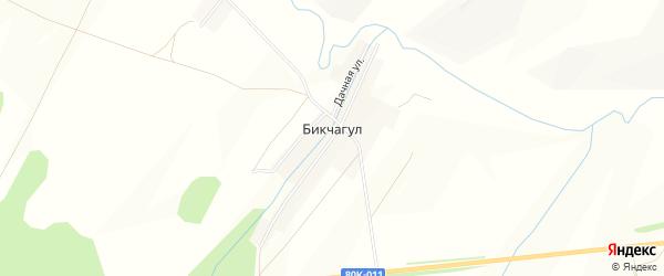 Карта деревни Бикчагула в Башкортостане с улицами и номерами домов