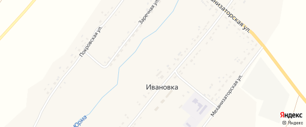 Поповская улица на карте села Ивановки с номерами домов
