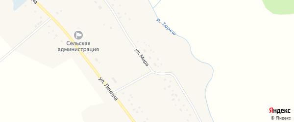 Улица Мира на карте села Сарайгировского отделения Уртакульского с номерами домов