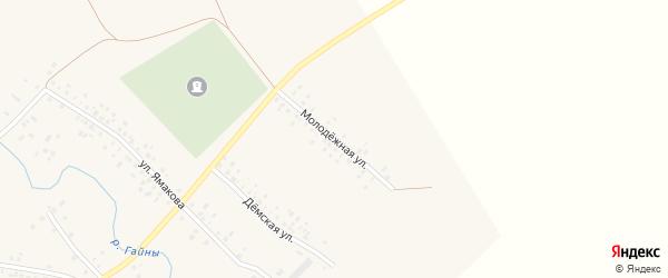 Молодежная улица на карте села Гайниямака с номерами домов