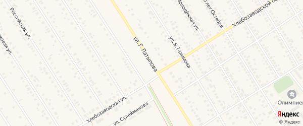 Улица Г.Латыпова на карте села Чекмагуш с номерами домов