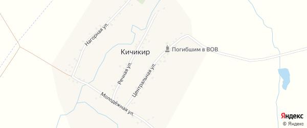 Центральная улица на карте деревни Кичикира с номерами домов