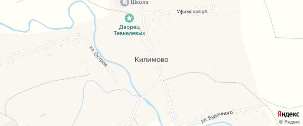 Молодежная улица на карте села Килимово с номерами домов