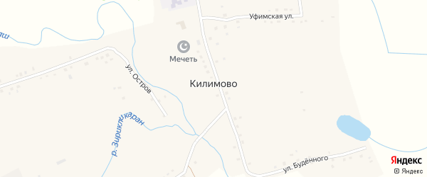 Улица Пушкина на карте села Килимово с номерами домов