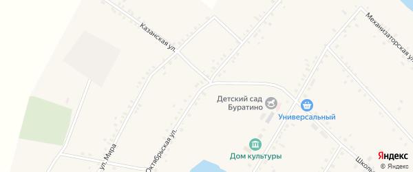 Октябрьская улица на карте села Исмаилово с номерами домов