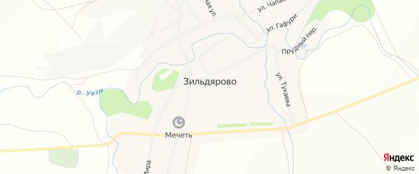 Карта села Зильдярово в Башкортостане с улицами и номерами домов