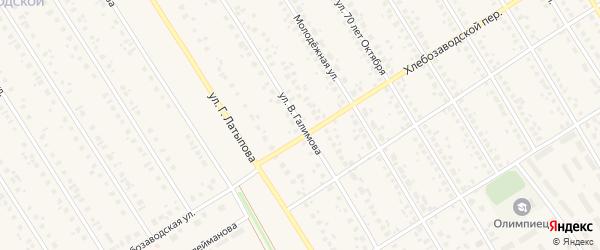 Улица В.Галимова на карте села Чекмагуш с номерами домов