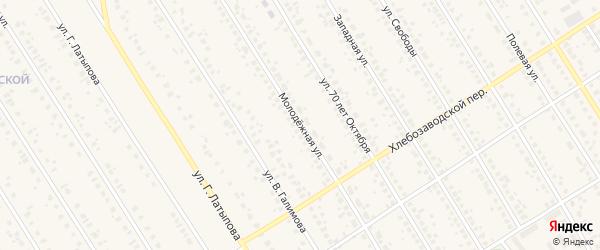 Молодежная улица на карте села Чекмагуш с номерами домов