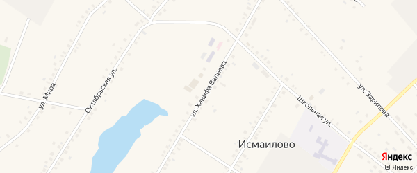 Улица Ханифа Валиева на карте села Исмаилово с номерами домов