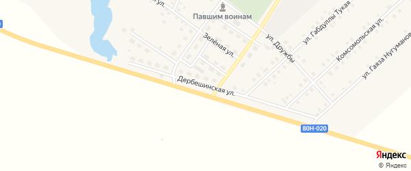 Дербешинская улица на карте села Исмаилово с номерами домов