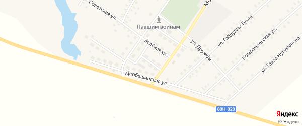 Улица Юности на карте села Исмаилово с номерами домов