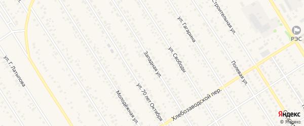 Западная улица на карте села Чекмагуш с номерами домов