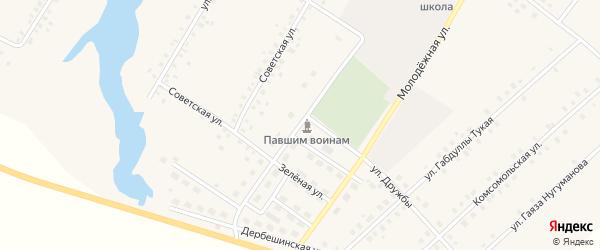 Улица 50 лет Волготанкер на карте села Исмаилово с номерами домов