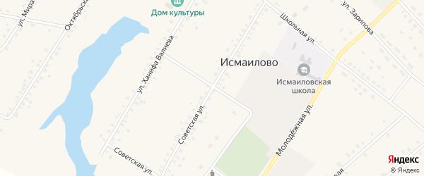 Советская улица на карте села Исмаилово с номерами домов