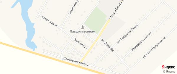 Улица Речников на карте села Исмаилово с номерами домов