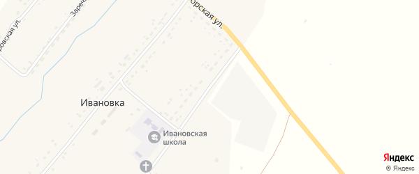 Механизаторская улица на карте села Ивановки с номерами домов