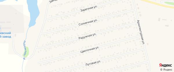 Радужная улица на карте села Чекмагуш с номерами домов