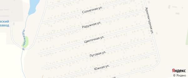 Цветочная улица на карте села Чекмагуш с номерами домов