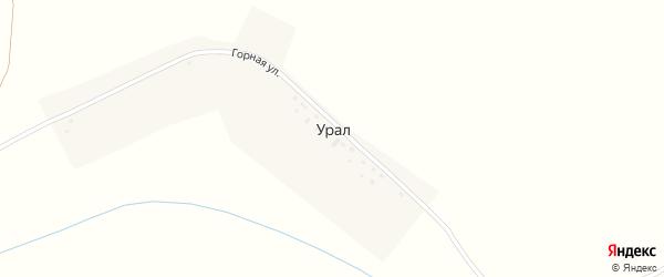 Горная улица на карте деревни Урала с номерами домов