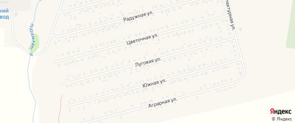 Луговая улица на карте села Чекмагуш с номерами домов