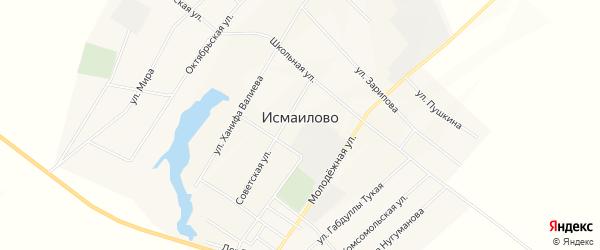 Карта села Исмаилово в Башкортостане с улицами и номерами домов