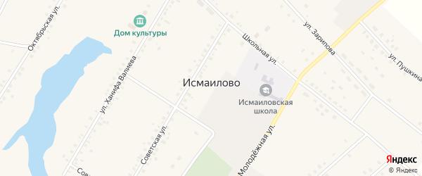 Школьная улица на карте села Исмаилово с номерами домов
