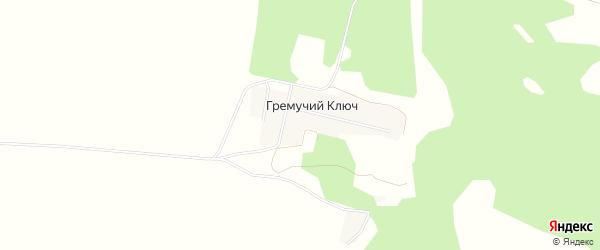 Карта деревни Гремучего Ключа в Башкортостане с улицами и номерами домов