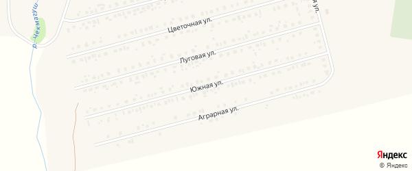 Южная улица на карте села Чекмагуш с номерами домов
