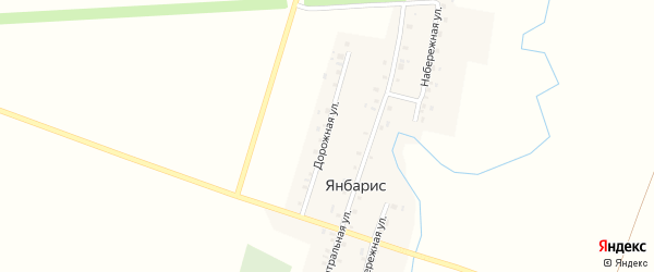 Дорожная улица на карте деревни Янбариса с номерами домов