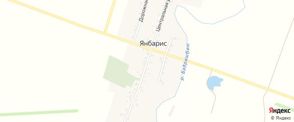 Центральная улица на карте деревни Янбариса с номерами домов